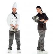 Chaqueta de cocinero para hombre manga larga DELUXE Blanco, 58
