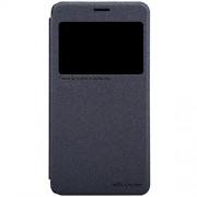 Nillkin Sparkle Leather Flip Stand Bumper Back Case Cover For Lenovo S850 - Black