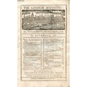 The London Magazine, Or, Gentleman's Monthly Intelligencer, Nov. 1781 (Contents: Memoirs Of The Right Hon. Edward Lord Thurlow, Lord High Chancellor Of Great-Britain. The Hypochondriack, N° ...
