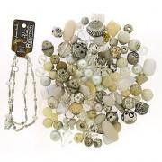 Jesse James Beads 9229 Premium White Bead Mix - Plus Free 18 Beaded Chain White