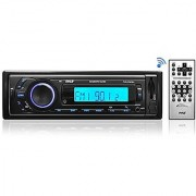 Pyle PLR27MPBU Bluetooth Stereo Receiver In-Dash Console Radio USB/SD/MP3 Playback Aux (3.5mm) Input AM/FM Radio Single DIN