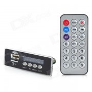"""1.0"""" modulo del jugador del MP3 del LED w / fm / usb / tf / regulador alejado - negro"""