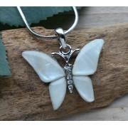 ketting hanger vlinder parelmoer 059