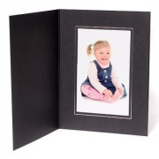 7x5 / 5x7 09 Series Black & Silver Photo Folder - Portrait