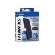 Disco Duro Externo Verbatim Titan XS 2.5'', 1TB, USB 3.0, Negro