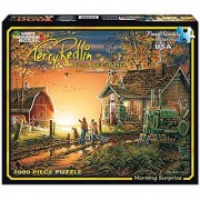 White Mountain Puzzles Morning Surprise - 1000 Piece Jigsaw Puzzle