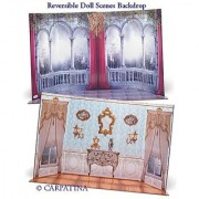 Doll Scene Backdrop Reversible Castle Fits 18 Inch Carpatina or American Girl