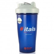 Coqueteleira Full Color #ITALS 830ml - Azul c/ tampa Cinza - Blender Bottle