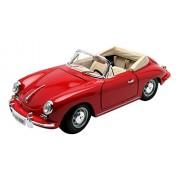 Bburago - 12025R - Porsche 356 B Cabriolet - 1961 - Echelle 1/18 - Rouge