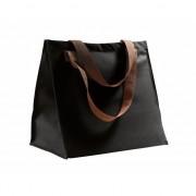 Zwarte shopping bag 34 cm