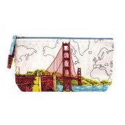 San Francisco Golden Gate Handmade Pouch by Galison