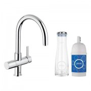 Grohe Blue Pure Starter Kit 33249 mit EH-SPT-Batterie/Filter/Karaffe chrom 33249000