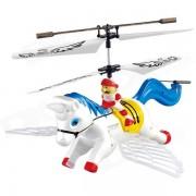 Syma S2 3.5-CH Caballo Estilo IR remoto R / C Helicoptero w / Gyro / lampara - azul + blanco (4 x AA)