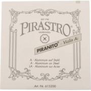 Pirastro Piranito Saitensatz 4/4 Geige/Violine E-Saite Stahl mittel Pirastro Piranito Saitensatz für Violine Piranito Saiten für 4/4 Geige Stahlsaite Saiten-Satz Violinensaiten Pirastro Saiten Geigesaitensatz Pirastro Strings