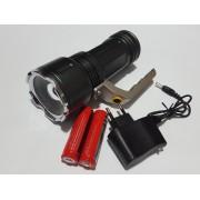 Супер мощен акумулаторен прожектор с CREE XM-L T6 диод и зуум функция