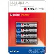 Agfa alkaline power set 4 baterii 1.5 v lr03 aaa