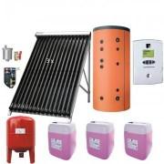 Pachet Panouri Solare cu tuburi vidate heatpipe Ferroli ECOTUBE NEW cu Boiler Ferroli Ecounit 500-2WB 500 litri
