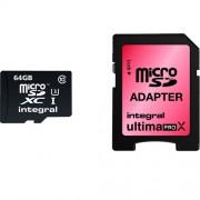 Card Memorie Micro SD cu Adaptor CL10 90/45MBS INTEGRAL 64GB INMSDX64G10-90/45U1 Integral