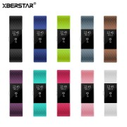 XBERSTAR Silicone Sports Wrist Band Strap for Fitbit Charge 2 Heart Rate Activity Tracker