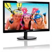 """Monitor Philips 246V5LHAB/00, 24"""", W-LED, 1920x1080, 10M:1, 5ms, 250cd, D-SUB, HDMI, repro, čierny"""