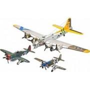 Macheta Revell Gift Set Flying Legends 8th USAAF B-17G P-47D P-51B