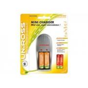 Uniross Mini + 2db AA + 2db AAA akkumulátor töltő