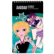 Designing Star Tattoo Mini Sketch Pad with Bonus Back Cover Dry Erase Board (95042)