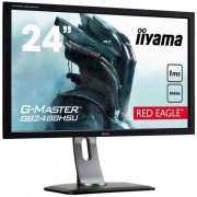 "Monitor Gaming TN LED iiyama G-Master Red Eagle 24"" GB2488HSU-B3, Full HD (1920 x 1080), DVI, HDMI, DiplayPort, 1 ms, 144 Hz, Boxe, FreeSync (Negru)"