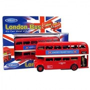 London De Luxe Double Decker Red Bus Model Made of Die Cast Metal and Plastic...