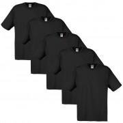 Fruit of the Loom 5 t-shirts noirs 100% coton Original L