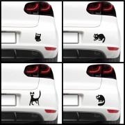Sticker auto - Pisici speriate (pachet)