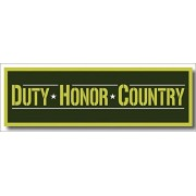 Squadron Products Duty-Honor-Country' Olive Hat Patch Clothing