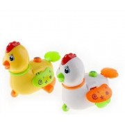 Kolossalz Yellow & White Singing Duck Toy Car for kids (Set of 2 Ducks)    Sings Twinkle Twinkle little star