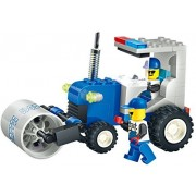 Construction Truck 91pcs Building Blocks Set Earth Flattener Roller Equipment Powered By A Strong Bull Dozer Engine With Construction Workers Grant A Dream Of All 5+ Engineers In A Lego Compatible
