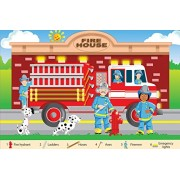 White Mountain Puzzles Fire Fighters Floor Puzzle (24 Piece)