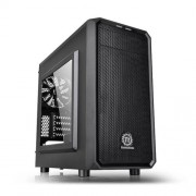 THERMALTAKE Versa H15 Gaming Case with Window, Micro ATX, No PSU, Mesh Front, Tool-less, Black