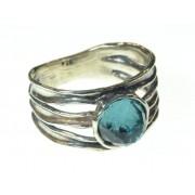 Inel argint cu blue topaz