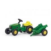 John Deere Rolly Tractor a Pedales Niños con Trailer