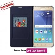 Unistuff™ Flip Cover for Samsung GALAXY J5-6 (New 2016 Edition)(Black)