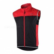 ARSUXEO Unisex chaleco sin mangas ultra ligero chaleco para el ciclismo (L)