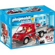 PLAYMOBIL 5032 City Life - Camión de juguete y figura de obrero