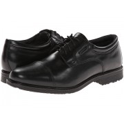 Rockport Lead The Pack Cap Toe Black WP Leather