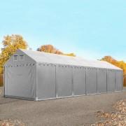 Intent24 4x14m XXL tente de stockage, PVC, H. 2,6m, gris