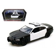 2011 Dodge Charger Pursuit Unmarked Black/White Police Car 1/24 Model Car by Motormax