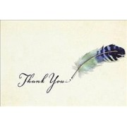 Watercolor Quill Thank You Notes (Stationery, Note Cards, Boxed Cards) by Inc Peter Pauper Press