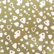 Goma eva 35x47 cm color terroso con corazones en blanco