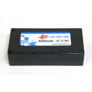 Intellect IPBG2S4000V4 Shorty LiPo. Hard case 2S ,4000mAh, 40C, 4mm conns.