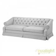 Canapea design clasic cu tesatura gri deschis Aldridge 108743U HZ