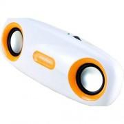 Boxa portabila SP309, Portabila, 4W RMS, Alb/Portocaliu