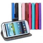 cavalo couro caso carteira aleta louca com suporte de cartão e ficar função para Samsung s3 i9300